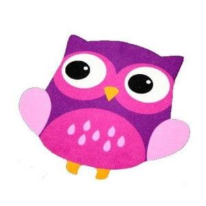 Detský fialový koberec Zala Living Owl, 66×66cm