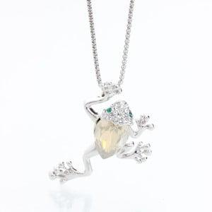 Náhrdelník so Swarovski Elements, žlutá žaba