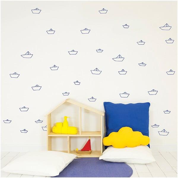 Dekoratívna samolepka na stenu Little Ships