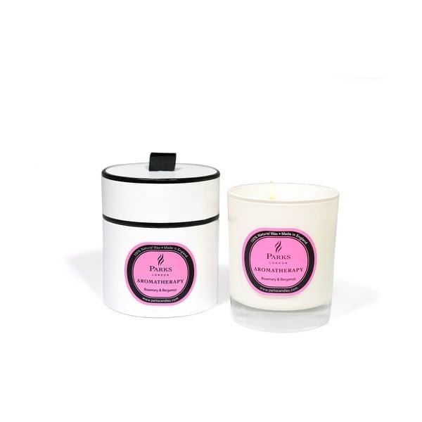 Sviečka s vôňou rozmarínu a bergamotu Parks Candles London Aromatherapy, 45hodín horenia