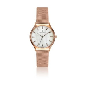 Dámske hodinky s antikoro remienkom v ružovozlatej farbe Frederic Graff Rustikala