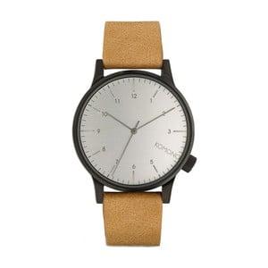 Unisex svetlohnedé hodinky s koženým remienkom Komono Regal