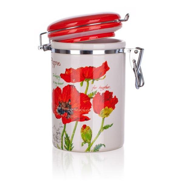 Keramická dóza Banquet Red Poppy, 750 ml
