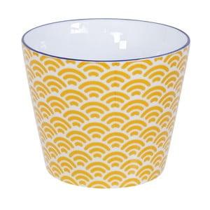 Žlto-biely hrnček Tokyo Design Studio Star/Wave, 180 ml