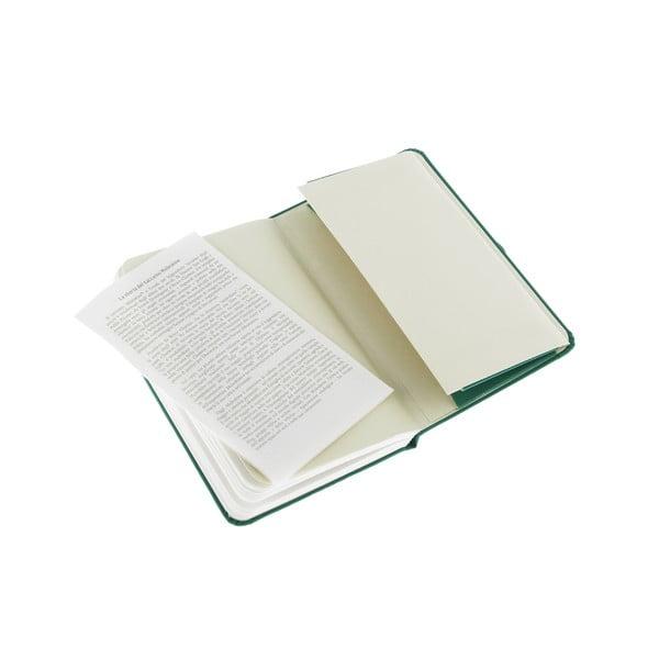 Zápisník Moleskine XS Green, nelinkovaný
