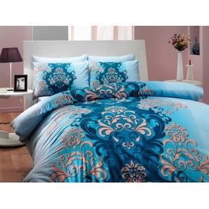 Bavlnené obliečky s plachtou Almeda, 200 x 220 cm, modré