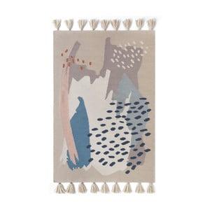 Ručne tkaný hnedý vlnený koberec Art For Kids Chroma, 160 x 230 cm
