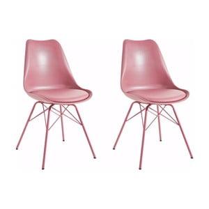 Sada 2 ružových jedálenských  stoličiek Støraa Lucinda