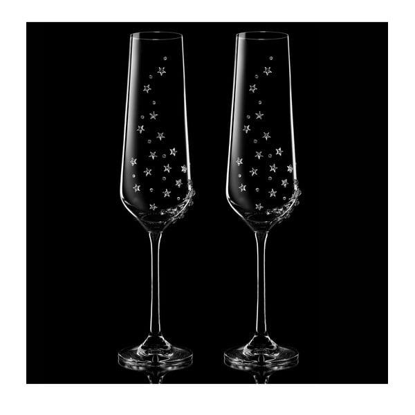 Sada 2 pohárov na šampanské Hera so Swarovski Elements v luxusnom balení