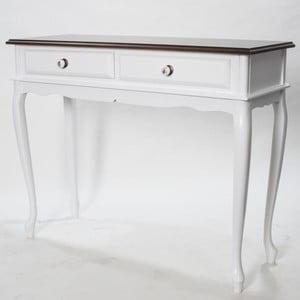 Konzolový stolík Carina Walnut, 100x38x81 cm