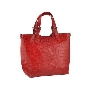 Kožená kabelka Pesca, červená