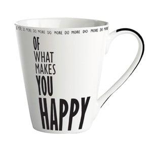 """Porcelánový hrnček """"Do more of what makes you happy"""""""