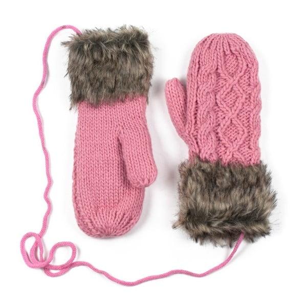 Ružové rukavice Dolores