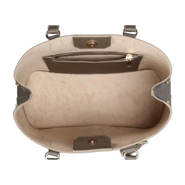 Sivohnedá kabelka z eko kože Beverly Hills Polo Club Mona