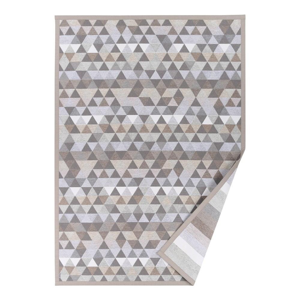 Béžový vzorovaný obojstranný koberec Narma Luke, 140 × 200 cm