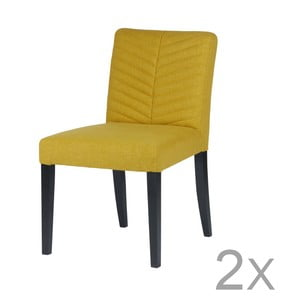 Sada 2 žltých stoličiek DeEekhoorn Nora