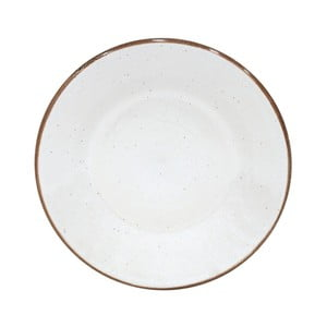 Biely dezertný tanier z kameniny Casafina Sardegna, ⌀ 24 cm