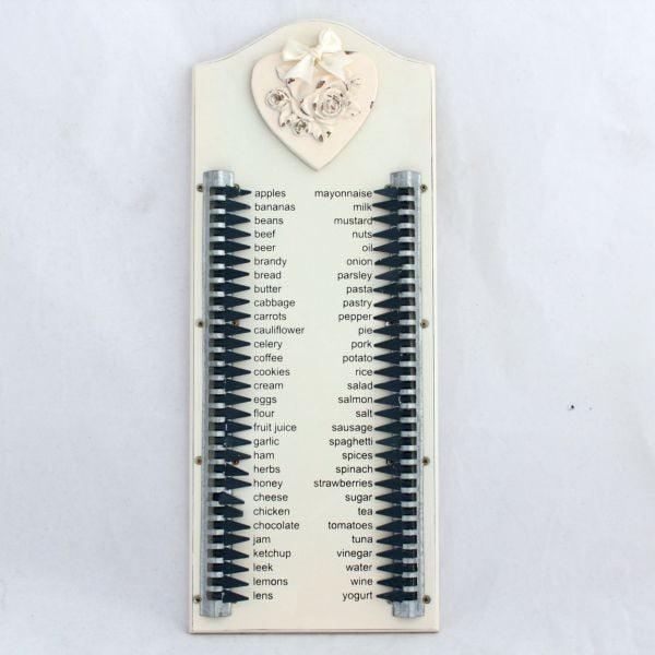 Nástenná dekorácia Shopping List