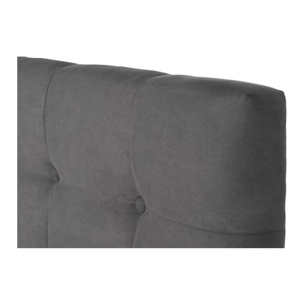 Sivá posteľ s matracom Stella Cadente Syrius Saches, 140x200cm