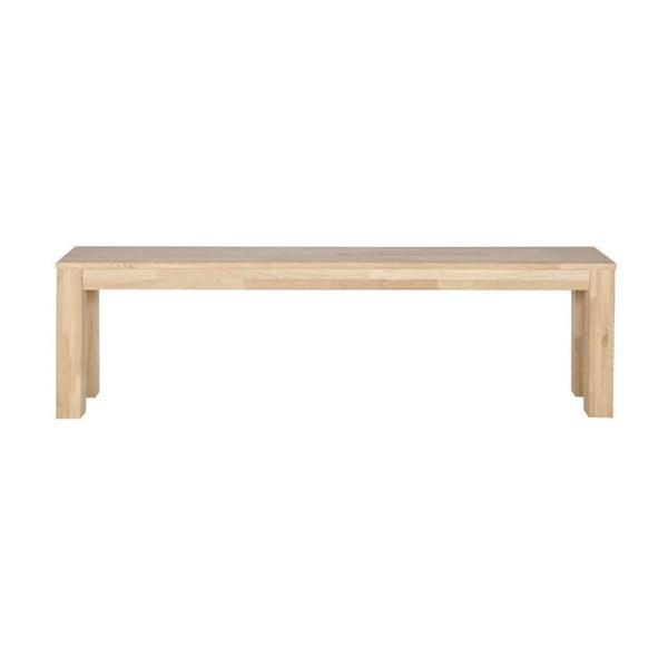 Svetlobéžová lavica z dubového dreva WOOOD Largo, 160 cm