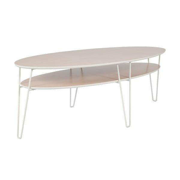 Konferenčný stolík s bielymi nohami RGE Leon, 150 x 65 cm