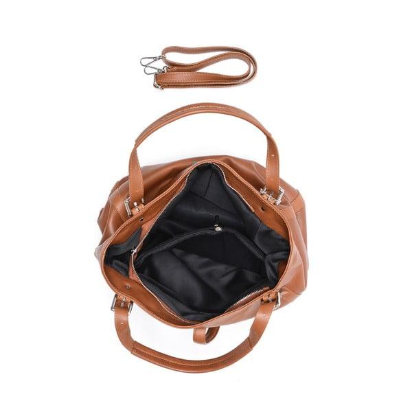 Koňakovohnedá kožená kabelka Isabella Rhea Eva