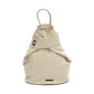 Béžový kožený batoh Anna Luchini Louisa