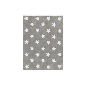 Sivý bavlnený ručne vyrobený koberec Lorena Canals Stars, 120 x 160 cm