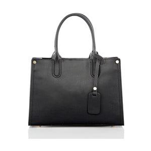 Čierna kožená kabelka Glorious Black Liana