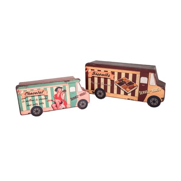 Sada 2 boxov Biscuit Van