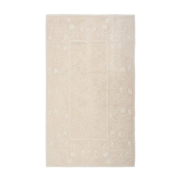 Krémový bavlnený koberec Floorist Camaria, 80x300cm