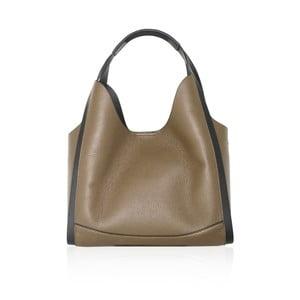 Béžová kožená kabelka Maison Bag Giade