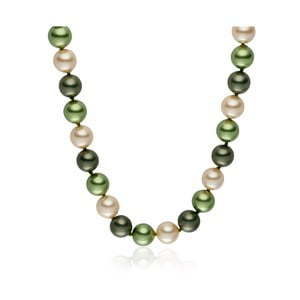 Zelený perlový náhrdelník Pearls Of London Mystic, dĺžka 45 cm