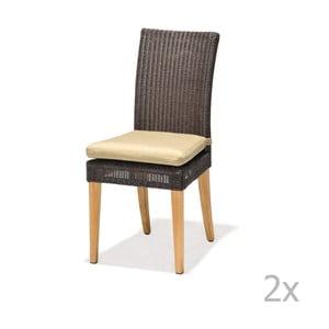 Sada 2 záhradných stoličiek s opierkami a čalúneným sedadlom LifestyleGarden St. Lucia