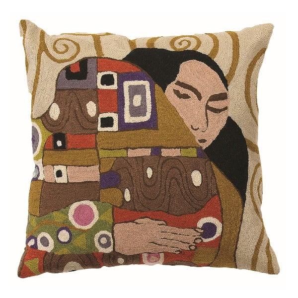 Obliečka na vankúš Klimt The Embrace, 45x45 cm