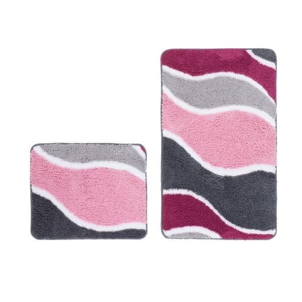 Sada 2 kúpeľňových predložiek Lift Pink