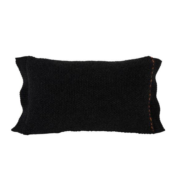 Čierny vankúš Zuiver Aster, 60×30 cm