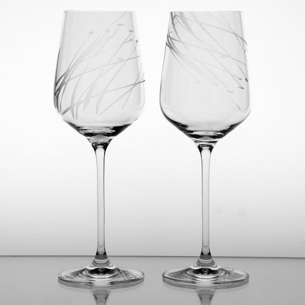 Ateliér Žampach, set 2 ks pohárov na červené víno Sitina