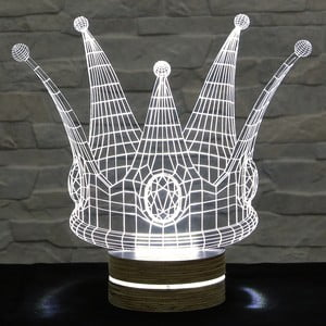 3D stolová lampa Crown