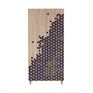 Dvojdverová šatníková skriňa Stil Geometry Blue, 90×192 cm
