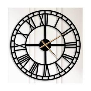 Čierne kovové nástenné hodiny Bertha