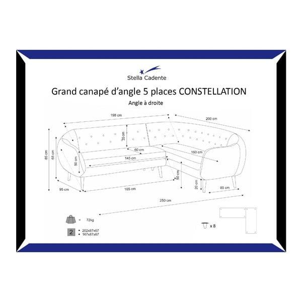 Pohovka Constellation Grand Pistachio Green s leňoškou na pravej strane