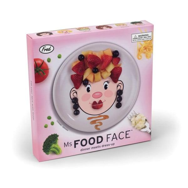 Detský tanier Fred & Friends Ms. Food Face