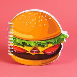 Zápisník v tvare cheeseburger Just 4 Kids Cheeseburger, 100 stránok