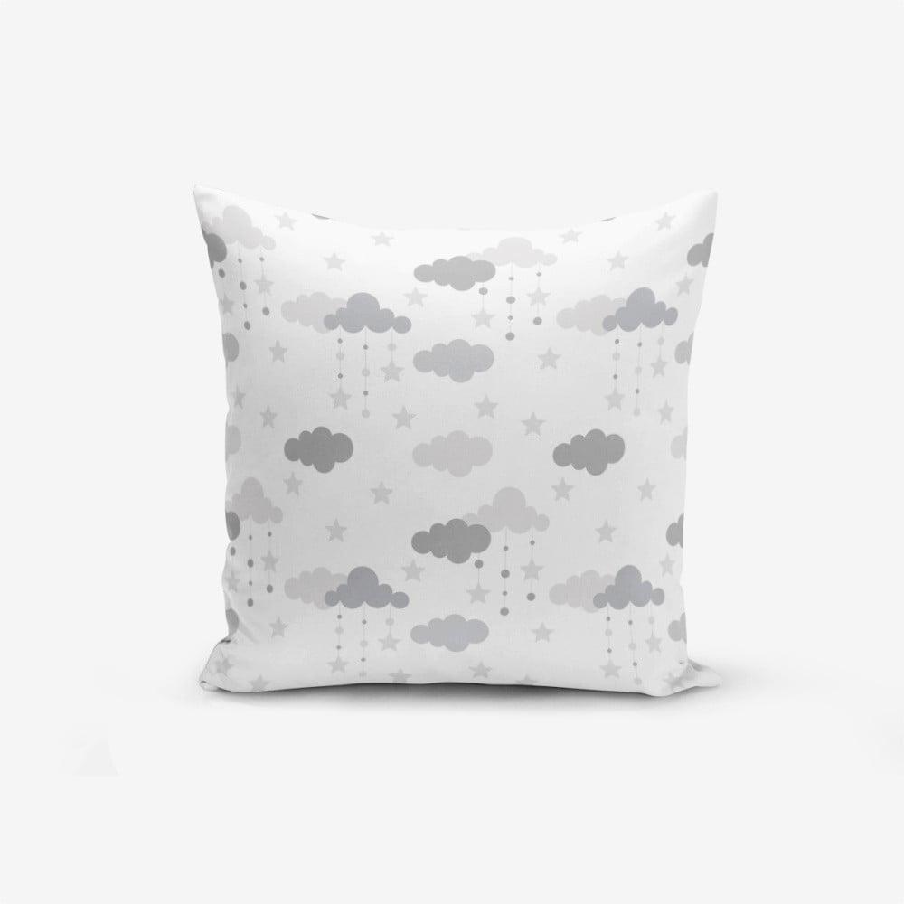 Obliečka na vankúš s prímesou bavlny Minimalist Cushion Covers Grey Clouds, 45 × 45 cm