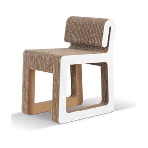 Kartónová stolička Hook White