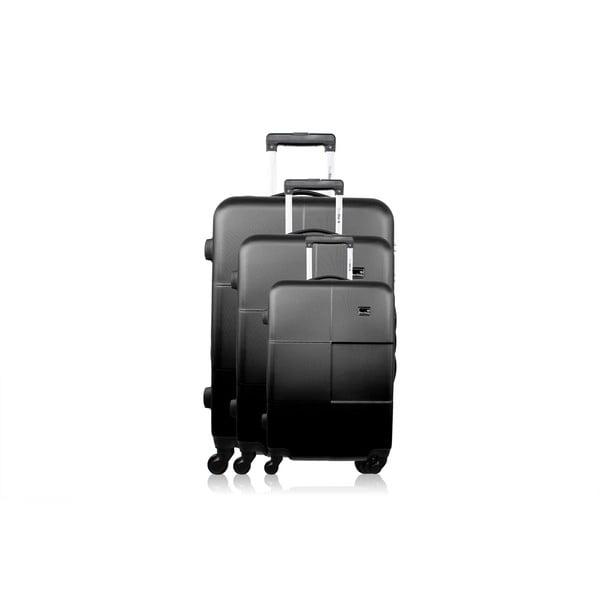 Sada 3 kufrov Brand Developpement Josephee, čierna