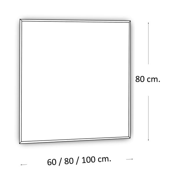 Zrkadlo s LED osvetlením Lateral, 80x80 cm