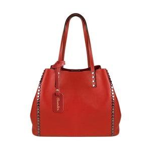 Červená kožená kabelka Maison Bag Milú