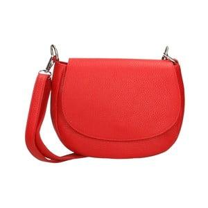 Červená kožená kabelka Chicca Borse Rosso